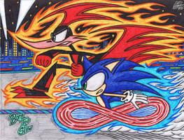 .:Speed Demons:. Rev Runner VS Sonic The Hedgehog by AceOfSpeed94