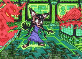 Sonic SatAM - Nicole Lynx The Virus Killer by AceOfSpeed94
