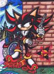 .:Art Trade:. The Black Hedgehog Who Gunned Me