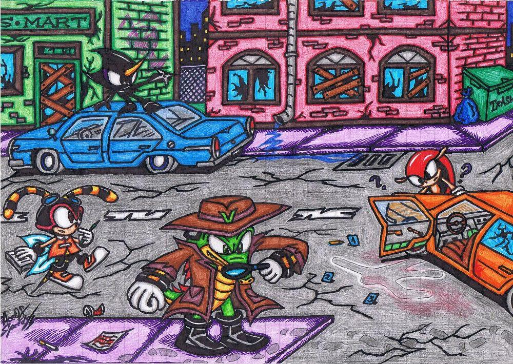 ~Sherlock Holmes~Team Chaotix Crime Investigating by AceOfSpeed94