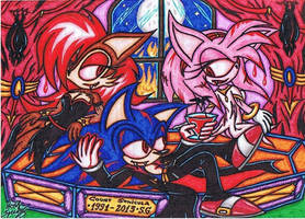 .:Count Sonicula:. Awakening And Drinking  Blood by AceOfSpeed94