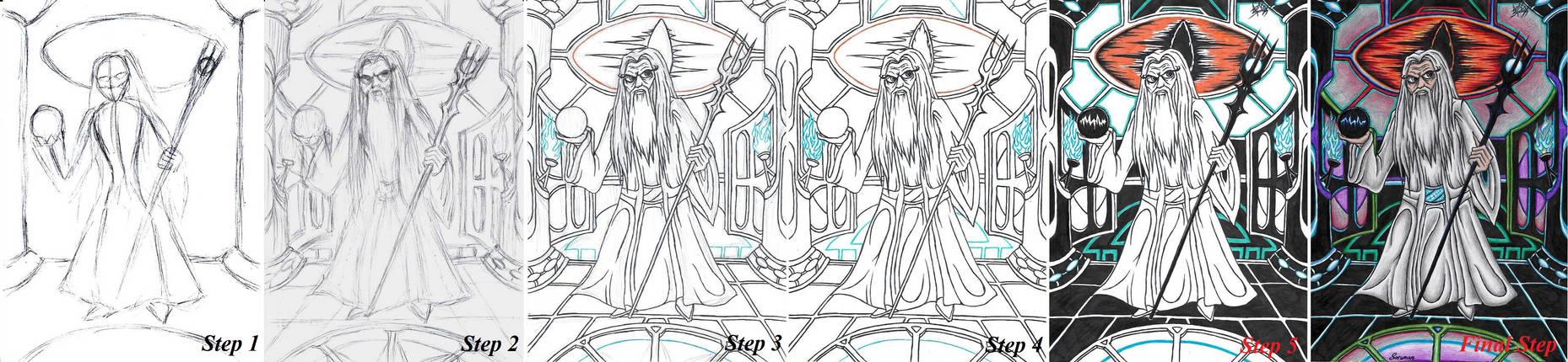 .:Art-Tutorial:. How Do I Draw LoTR Saruman
