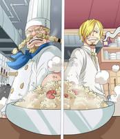 Zeff and Sanji (One Piece CH. 902) by FanaliShiro