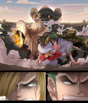 Zorojuro and Sangoro (One Piece CH. 943)
