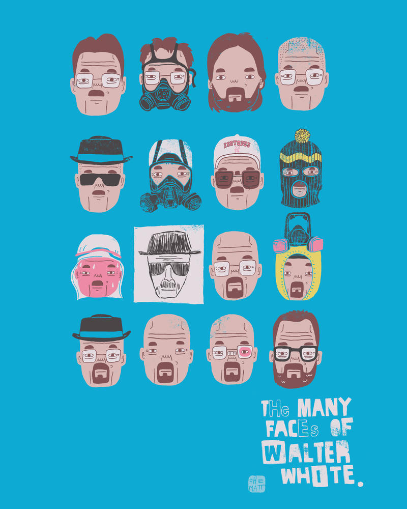The Many Faces Of Walter White by Fievel-the-Mouse