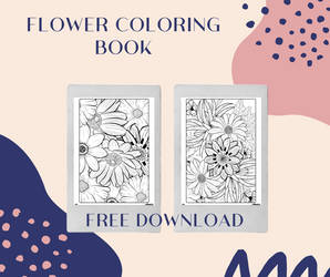 Flower Coloring Book - Free Download
