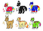 Wolf adoptables (Open) (points) by Slerkiij