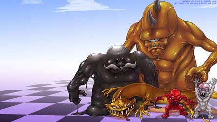 Desktop - Raw Monsters by AbortedSlunk