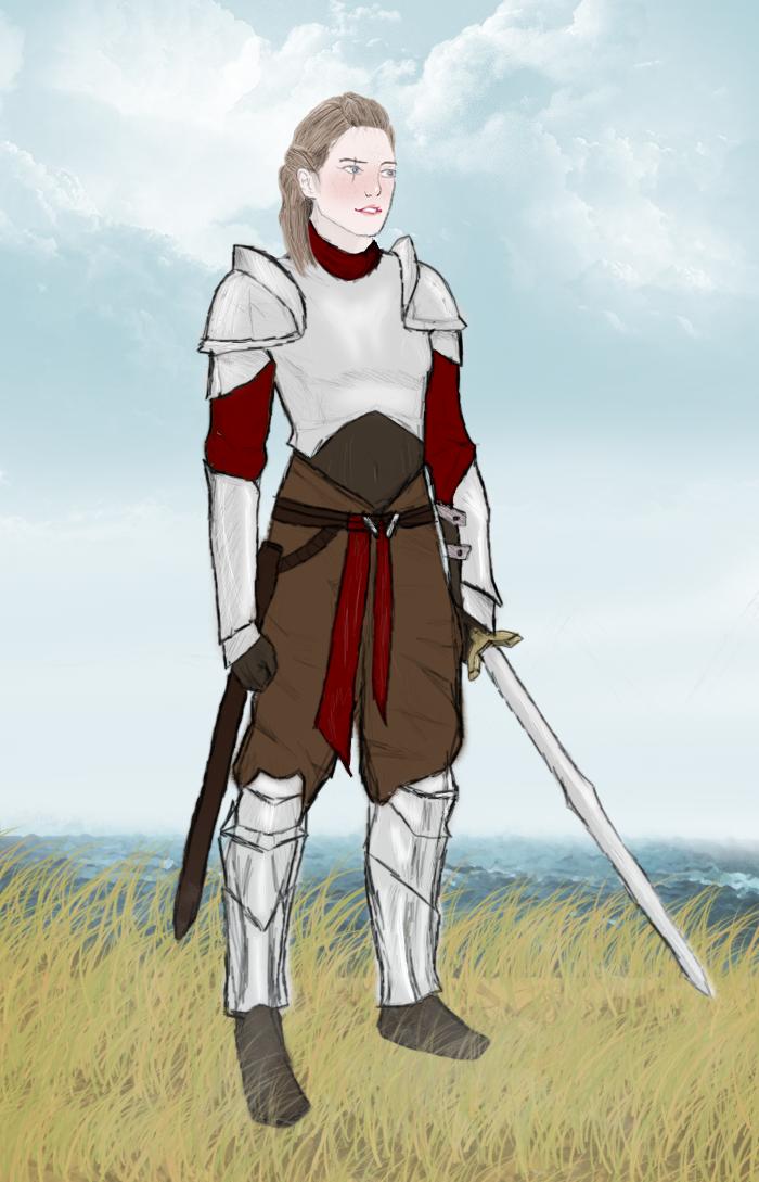 Faye - Female Warrior Sketch by Maverickov