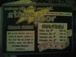 Stage Door Poster by liangelkissesil