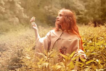 Forest birds cloak. by Fairysiren