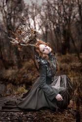 Forest deer girl II. by Fairysiren