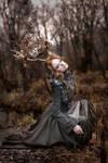 Forest deer girl II.