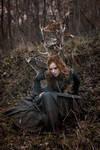 Forest deer girl III