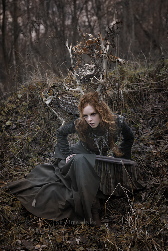 Forest deer girl III by Fairysiren