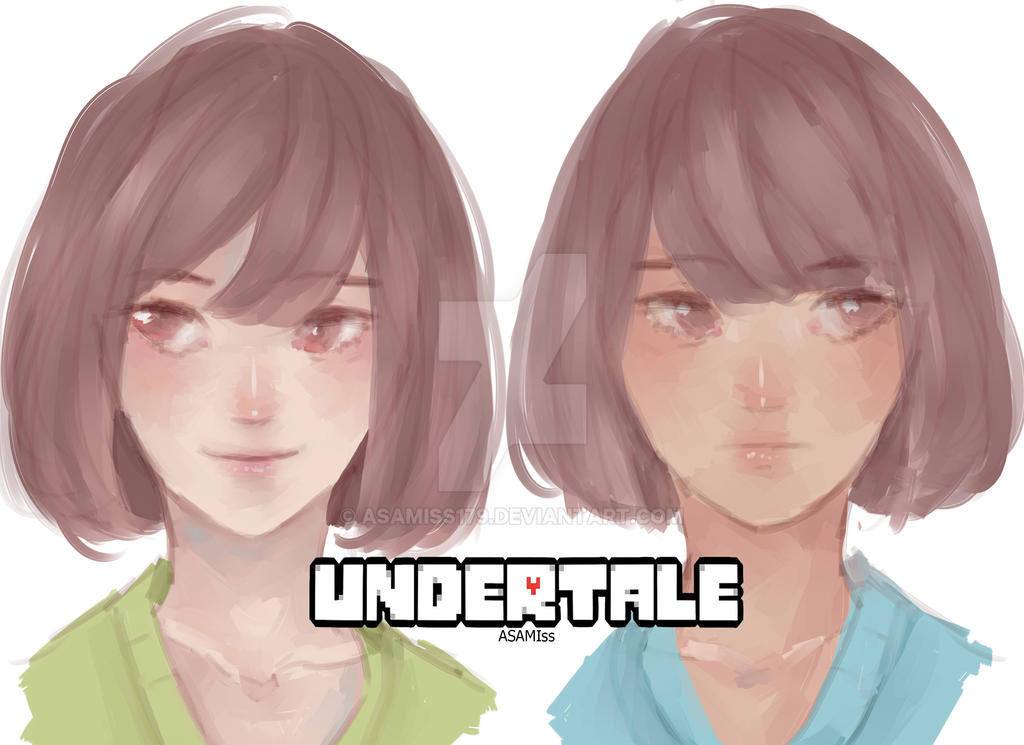 Chara and Frisk by ASAMIss179