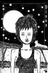 Diana - Full Moon over Cat Mountain by PrincessIndigo