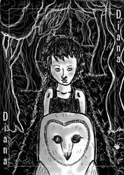 Diana - Owl Street, on Cat Mountain by PrincessIndigo