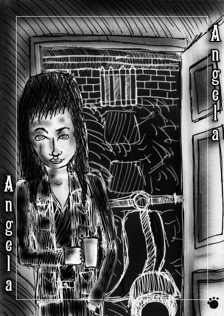 Angela - Late Night At Fulla's Place by PrincessIndigo