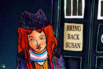 Cosplay Doodle - Outside the TARDIS - 1st Doctor by PrincessIndigo