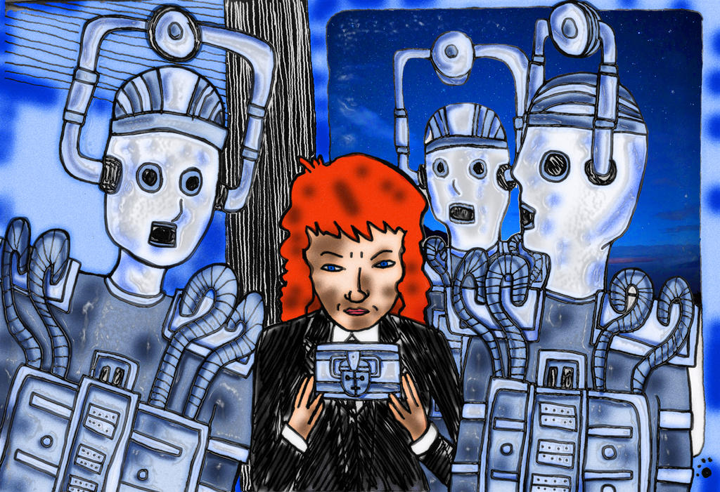 Cosplay Doodle - Madwoman with a Box - 1st Doctor by PrincessIndigo