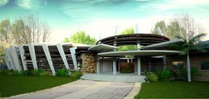 nature center entrance view