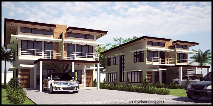 Box type duplex house by davens07 on deviantart for Types of duplex houses