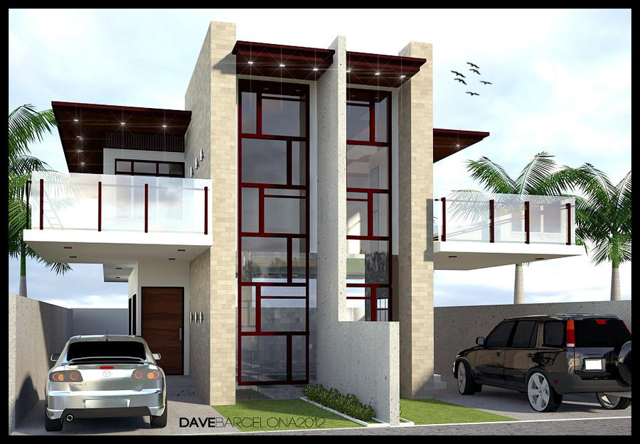 Glass type duplex house by davens07 on deviantart for Types of duplex houses