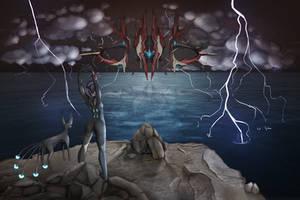 [Warframe] Sentient Huntress by lukinu-u