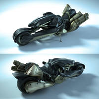 FF7 motorcycle by TheDarkOneZK