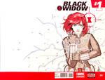 Black Widow- Pencil/Ink/Multichromatic