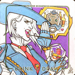 OW Ashe Coaster Sketch by mkmatsumoto