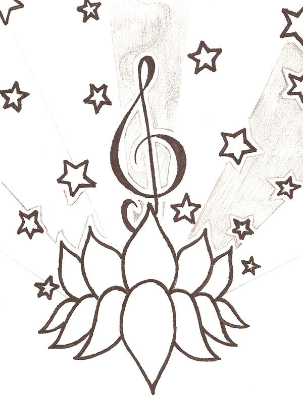 Musical Note Tattoo Design. Musical Tattoo Design 2