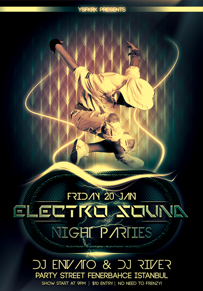 electro sound flyer template by ysfkrk on DeviantArt – Electro Flyer