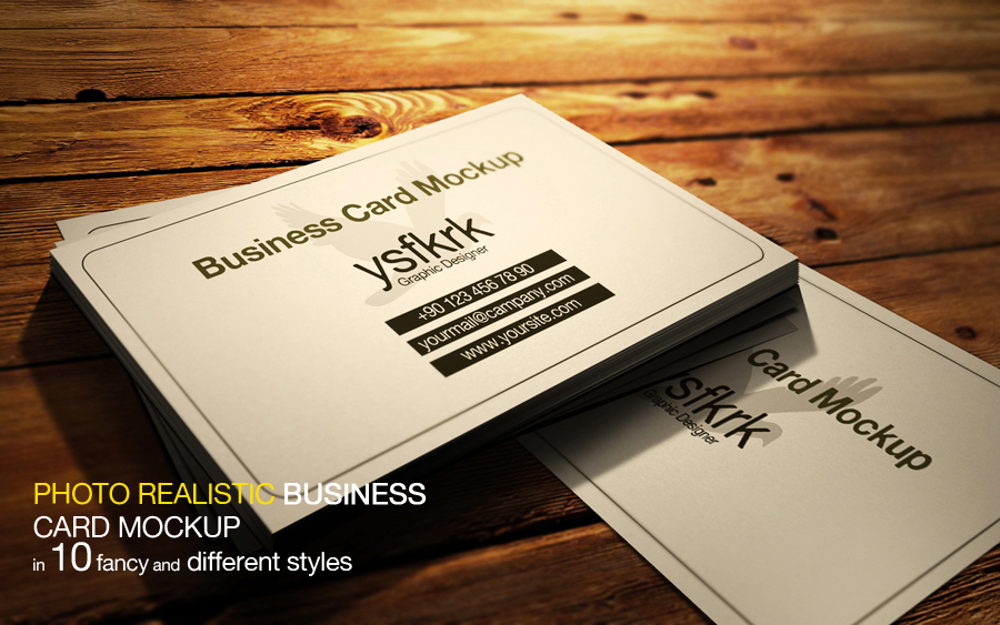 Photo realistic business card mockup by ysfkrk on deviantart photo realistic business card mockup by ysfkrk reheart Images