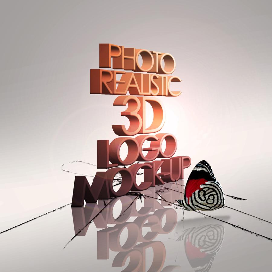 Photo Realistic 3D Logo Mock-up V.2 by ysfkrk on DeviantArt
