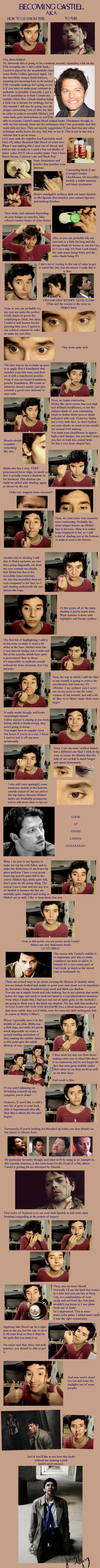 Castiel Cosplay FtM Makeup Tutorial by Sock-Monkey-Renegade