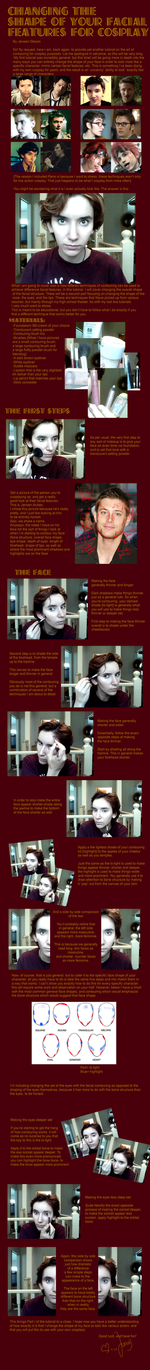Changing the shape of your facial features, pt 1 by Sock-Monkey-Renegade