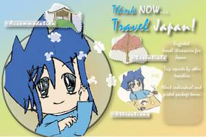 Travel Japan - Postcard Design by SuushiBoy