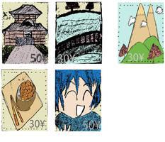 Travel Japan - Stamp Series by SuushiBoy