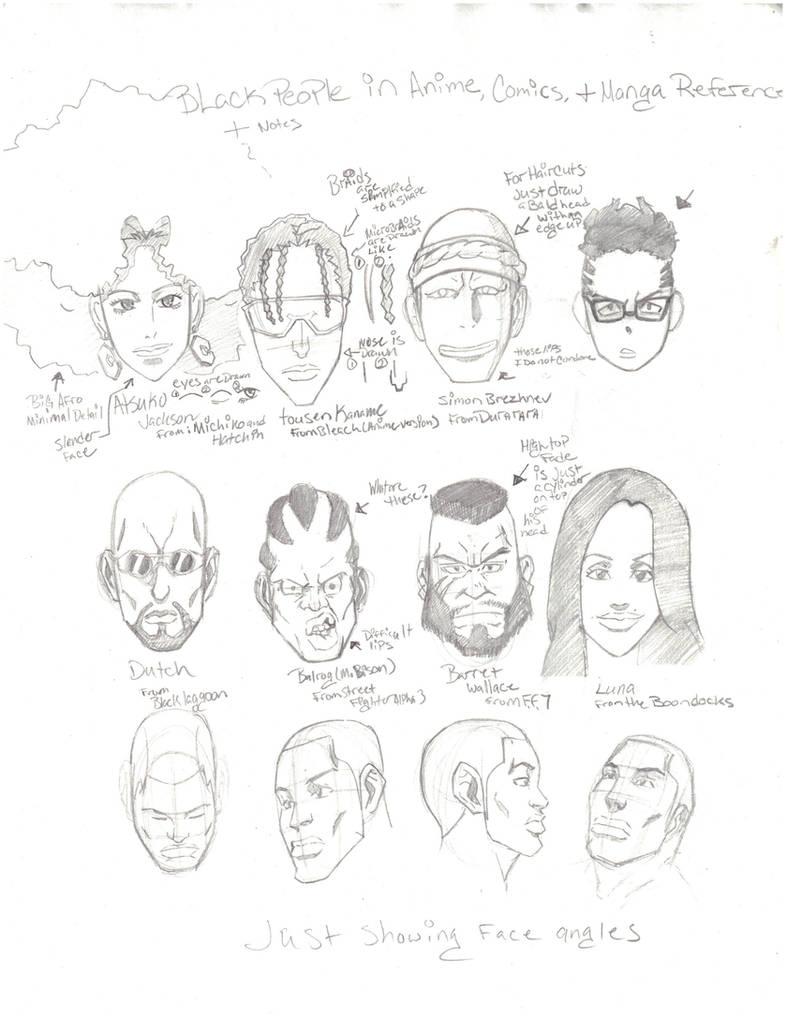 Black people in cartoon anime and manga by jetseta
