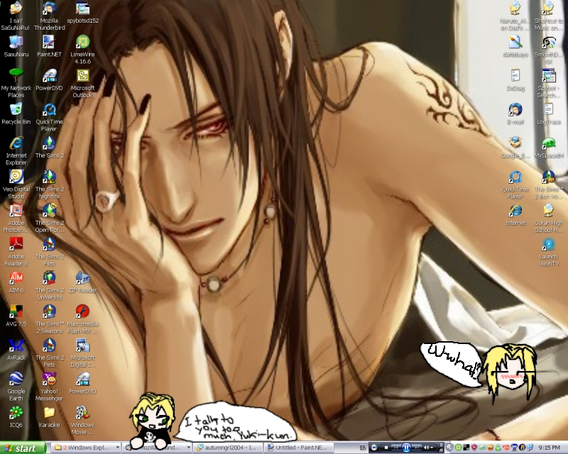 Eien's NEW desktop :P by Safira-chan