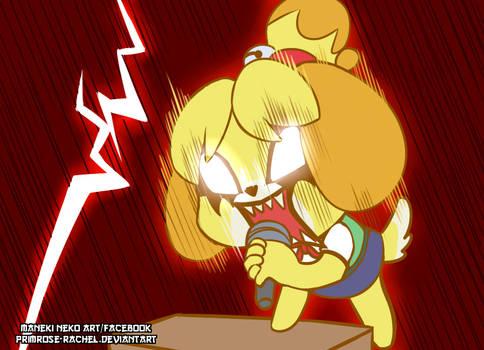 Animal Crossing Isabelle Aggretsuko