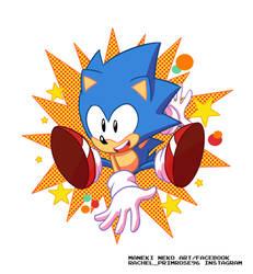 Sonic Classic by Primrose-Rachel