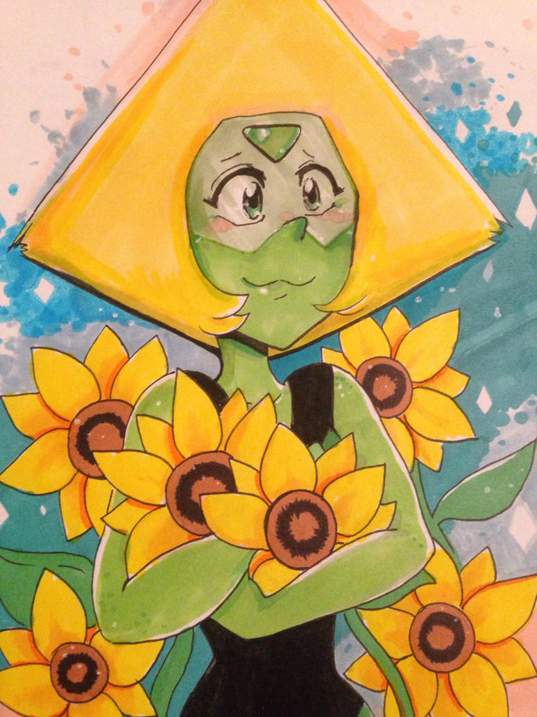 Peridot! I love Peridot but she's the one I have the most trouble drawing... I'll just keep practicing then! 😁 I like Peridot because she's kind of like me... she's nerdy and she farms. Als...