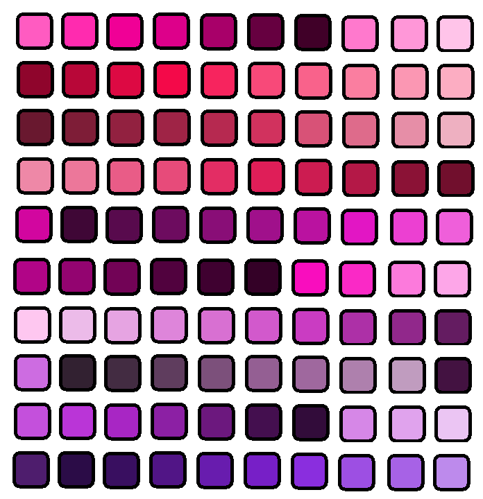 100 Shades Of Purple By Agosiciliano On Deviantart