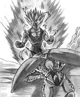 gohan ssj2 vs Cell by ChibiDamZ