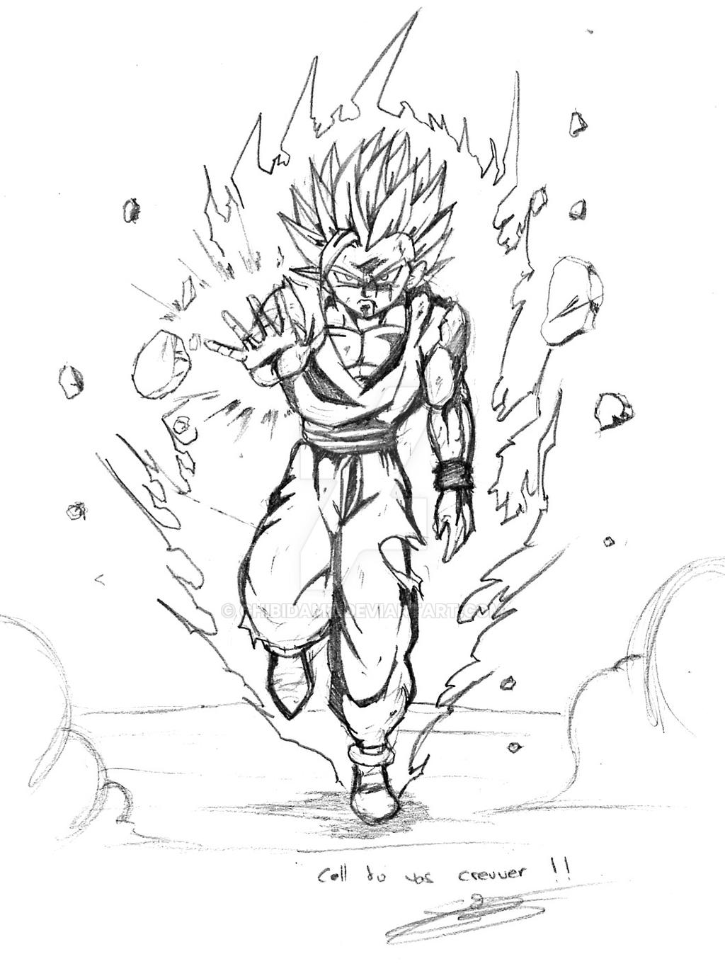 Sketche of gohan ssj2 by chibidamz on deviantart - Dessin de sangohan ...