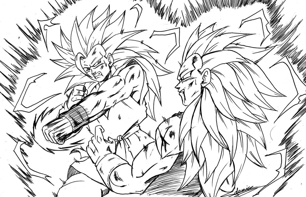 50 Imágenes De Goku Para Dibujar: Goku Ssj3 Vs Vegeta Ssj3 By ChibiDamZ On DeviantArt
