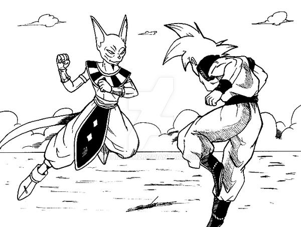 Goku Vs Frieza Coloring Pages, Dragon Ball Z Vegeta Vs Frieza ...